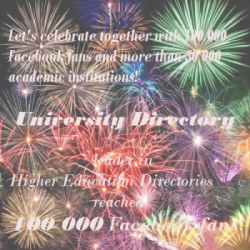 Congratulation University Directory!